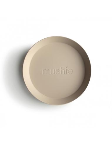 Mushie Bord Rond Vanilla (2 stuks)