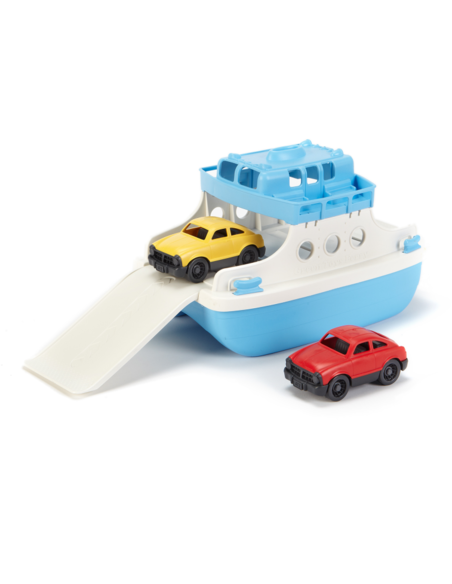 Veerboot met auto's blauw