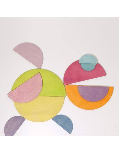 Grote Halve Cirkels Pastel