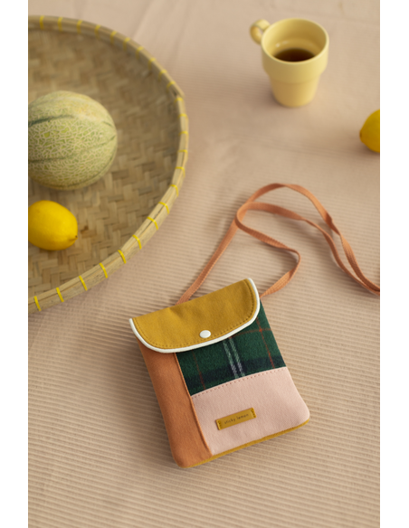 Wallet Bag - Wanderer forest green checks