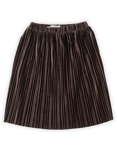 Skirt Velvet Pleats - Chocolate