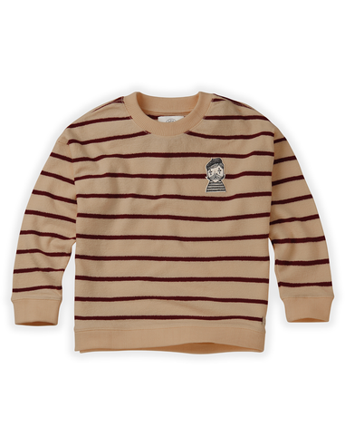 Sweatshirt Loose Stripe - Nougat
