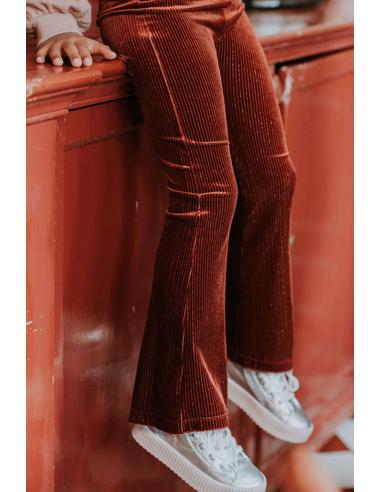 Pants Velvet Flair - Beet Maroon