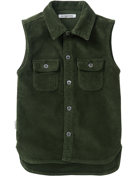Corduroy Sleeveless Shirt Forest Night