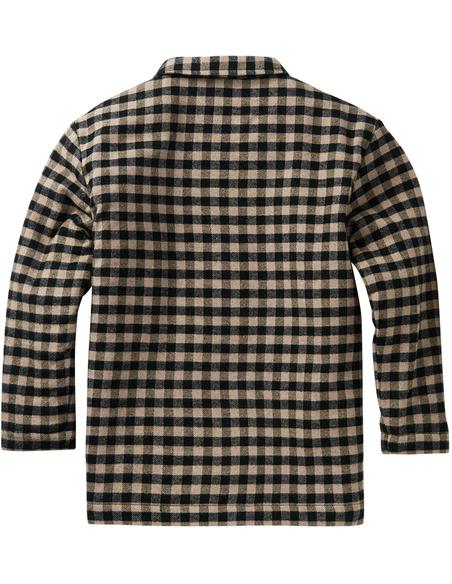 Flannel Checked Shirt Caramel Black