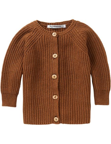 Knit baby Cardigan Pecan