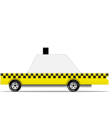 Candylab Toys Candycar Yellow Taxi