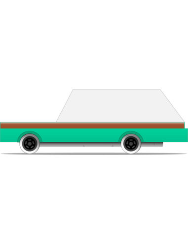 Candylab Toys Candycar Teal Wagon