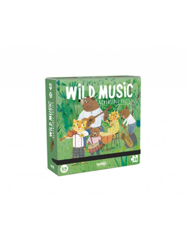 Omkeerbare Puzzel - Wild Music (36 stukjes)