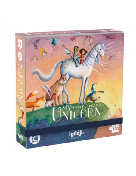 Pocket Puzzel - My Unicorn (100 stukjes)