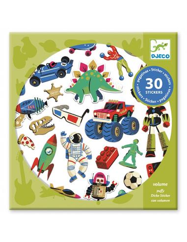 Djeco Stickers Retro Toys (30 stuks)