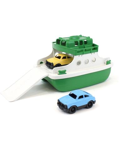 Veerboot met auto's groen