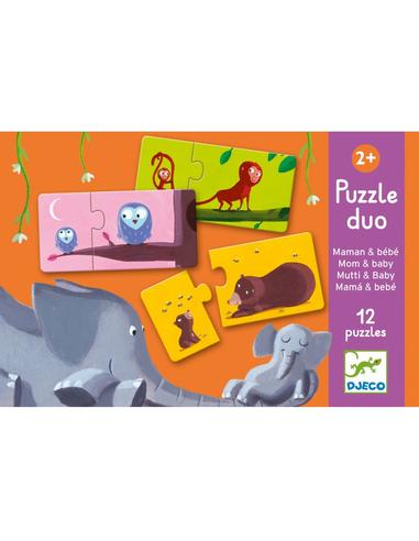 Djeco Puzzel - Baby en mama (12 puzzeltjes)