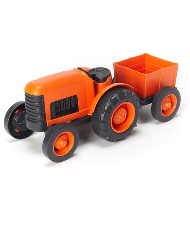 Green Toys Tractor oranje