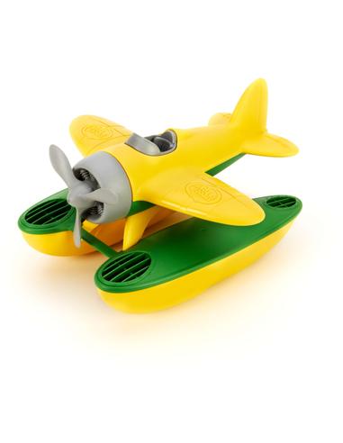 Watervliegtuig met gele vleugels