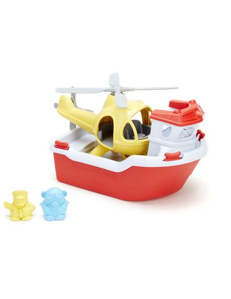 Reddingsboot met helicopter