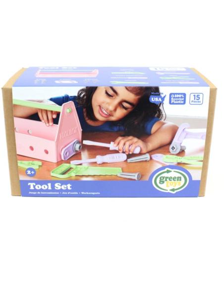 Green Toys Gereedschapskist roze