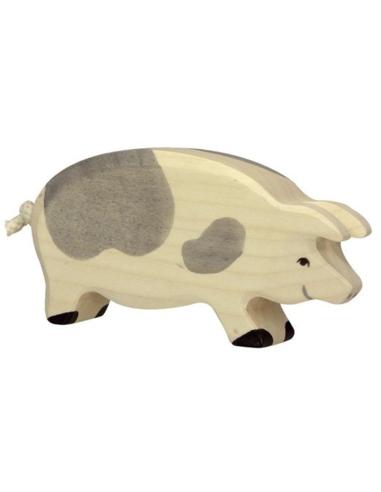 Holztiger Houten Zwijn gevlekt