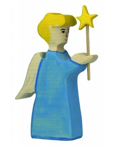 Holztiger Houten Engel met ster