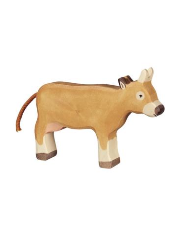 Holztiger Houten Koe staand lichtbruin