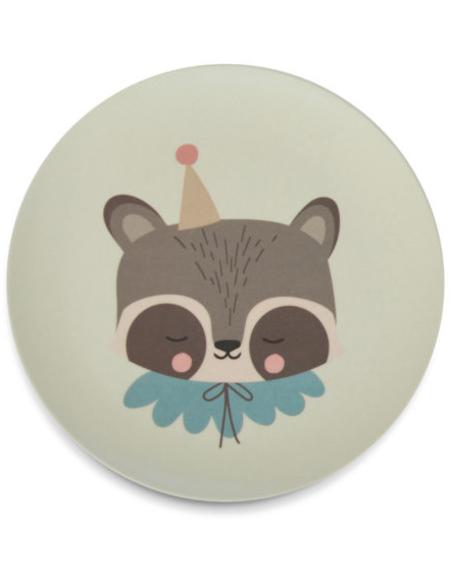 EL Bamboo Eco Dinner Set Raccoon